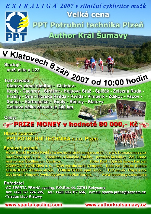 Roman Kreuziger na startu VC PPT Plzeň- Author Král Šumavy