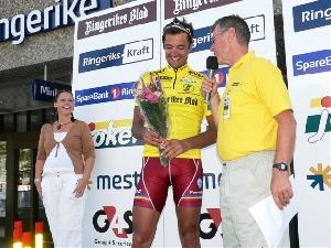 Martin Prázdnovský po 3. etapě GP RINGERIKE ve žlutém dresu!