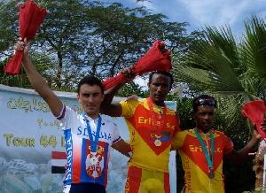 Nebojsa Jovanovič druhý v etapě závodu Tour of Egypt.