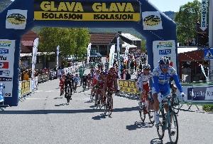 V úvodní etapě  Ringerike Grand Prix Richard Faltus na čtvrtém místě.