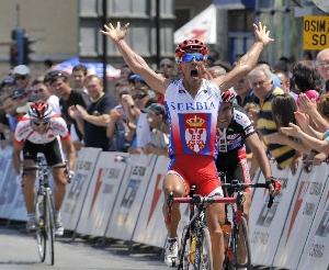 """Sparťan Nebojsa Jovanovič vítězem 6. etapy závodu ,,TOUR DE SERBIE""""."""