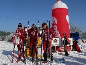 Tříkrálový běh na lyžích - VC Agro Bio Rokycany - Martin Kalvas porazil ve spurtu Tomáše Hrubého