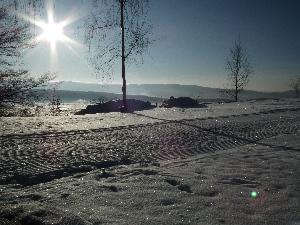 Ski Těškov on - line s webovou kamerou a s  výhledy na Brdy