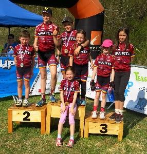 AC SPARTA Praha cycling junior vstoupila do první sezony medailově