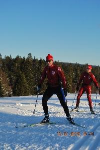 Ondřej Pávek vyzkoušel při tréninku na MS lyžařské stopy v Těškově