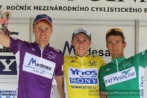 Martin Hunal 3. místo na Vysočina Tour a dres nejlepšího vrchaře