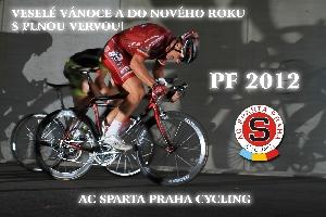 Veselé Vánoce a šťastný Nový rok 2012 přeje všem cyklistická SPARTA