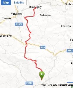 Poslední sklouznutí - neděle 3.3. na trase Ski areál Těškov - Biskoupky a zpět.