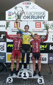 1.díl Táborské okruhy - Tomáš Okrouhlický a Tomáš Holub na 2. a 3. místě