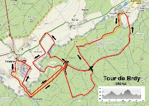 Tour de Brdy - krátká trasa