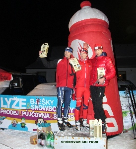 Vítězové prvního dílu Chodovar Ski Tour v Těškově o Velkou cenu Agro Bio Rokycany jsou Jiří Bouchal a Ondřej Vodrážka
