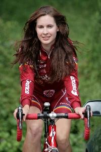 Katarína Hranaiová ve finále miss cyklistiky 2010
