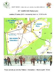 Velká cena Agro Bio Rokycany - lyžařský půlmaraton pro všechny startuje v neděli 13.30