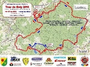 Mapa Tour de Brdy 2014