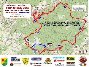 Tour de Brdy - změna na trati - objížďka úseku