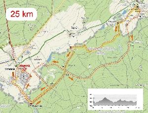 Tour de Brdy -  krátká trať malá změna