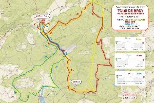 Tour de Brdy: mapa, trasy,popis a značení trasy 7.října 2017