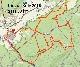 mapa krátké trasy na Tour de Brdy pro kategorie MTB, muži ,ženy, junioři,